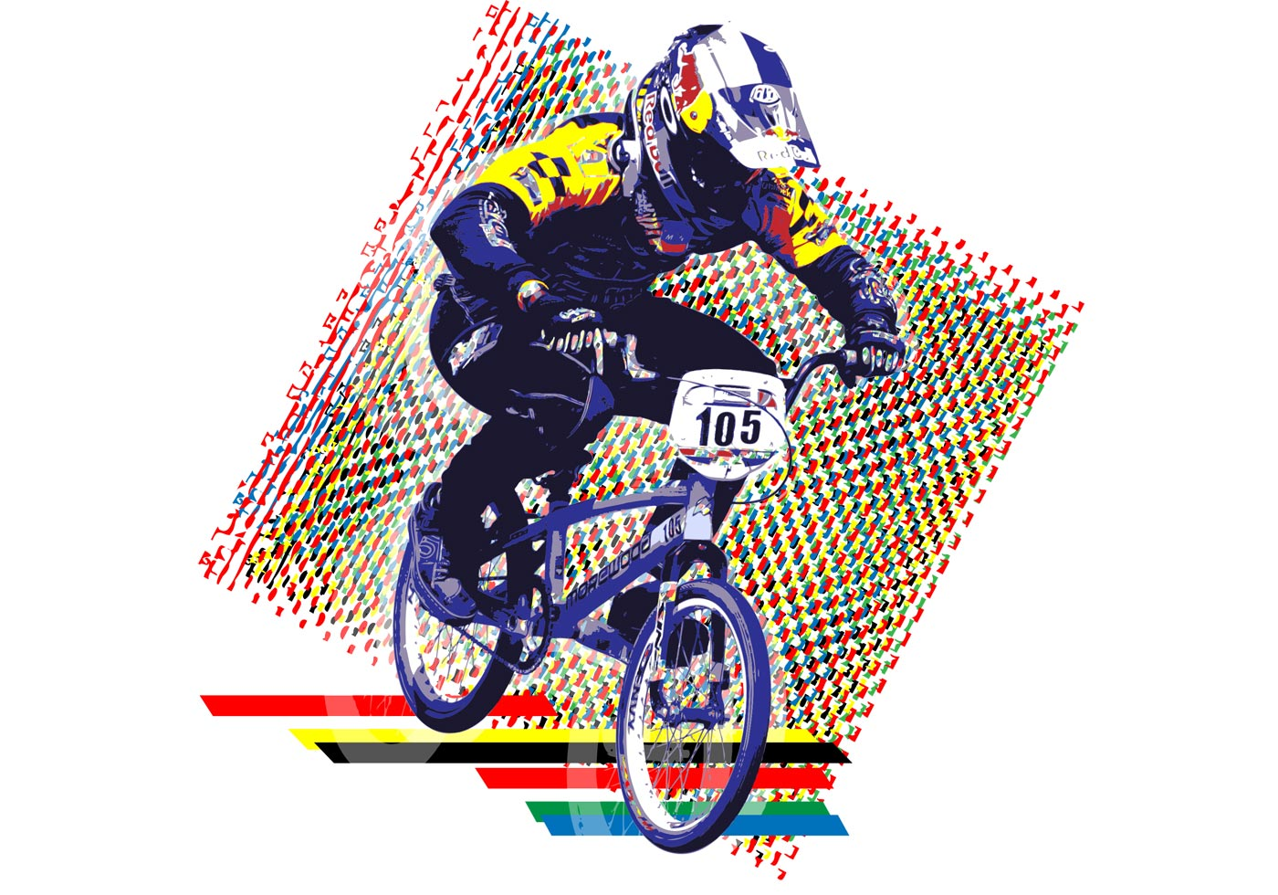 bmx in full color download free vector art stock