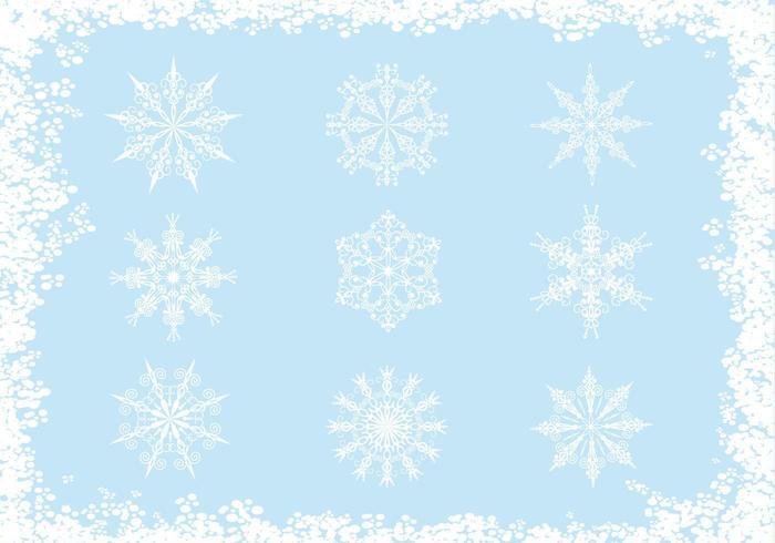Sierlijke Sneeuwvlok Vector Pack