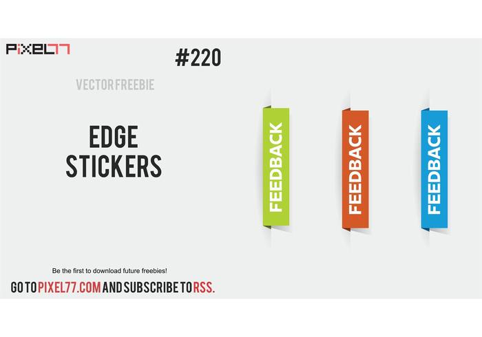 Free Vector of the Day #220: Edge Stickers
