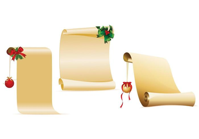 Decorated Christmas Scroll Vector Pack
