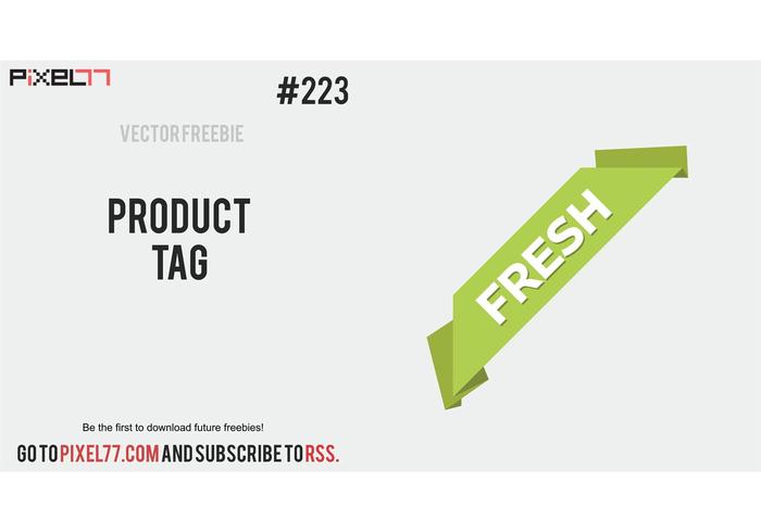 Corner Ribbon Vector - Free Vector of the Day #223: Product Tag