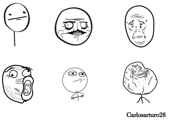 Meme Cartoon Vectors