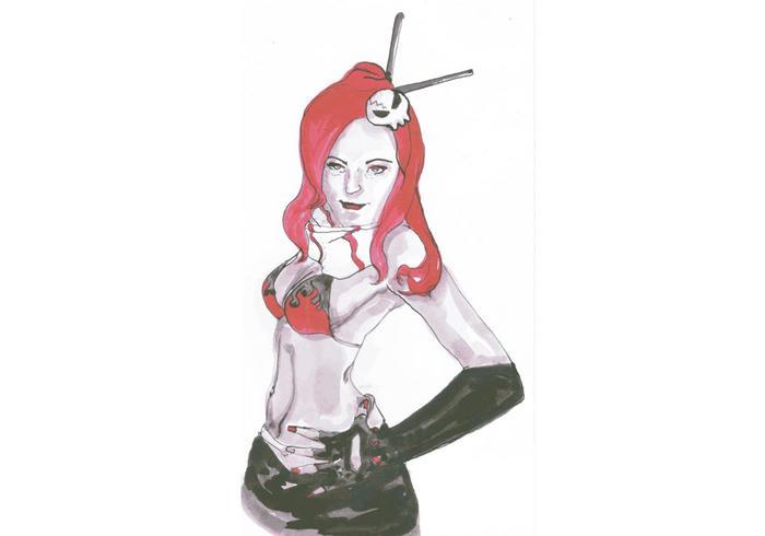 Female Comic Vector