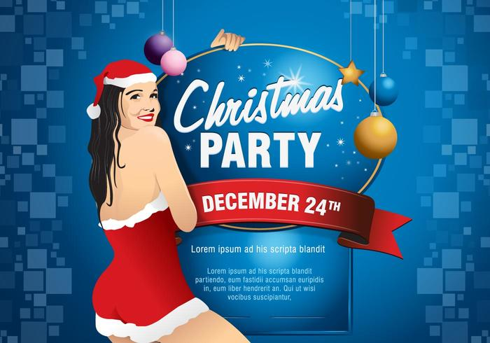 Christmas Vector Party Flyer