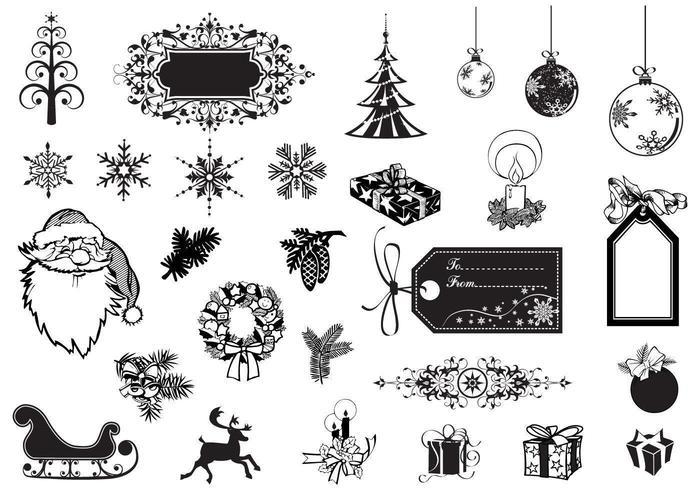 Paquete de vectores de vacaciones y Navidad