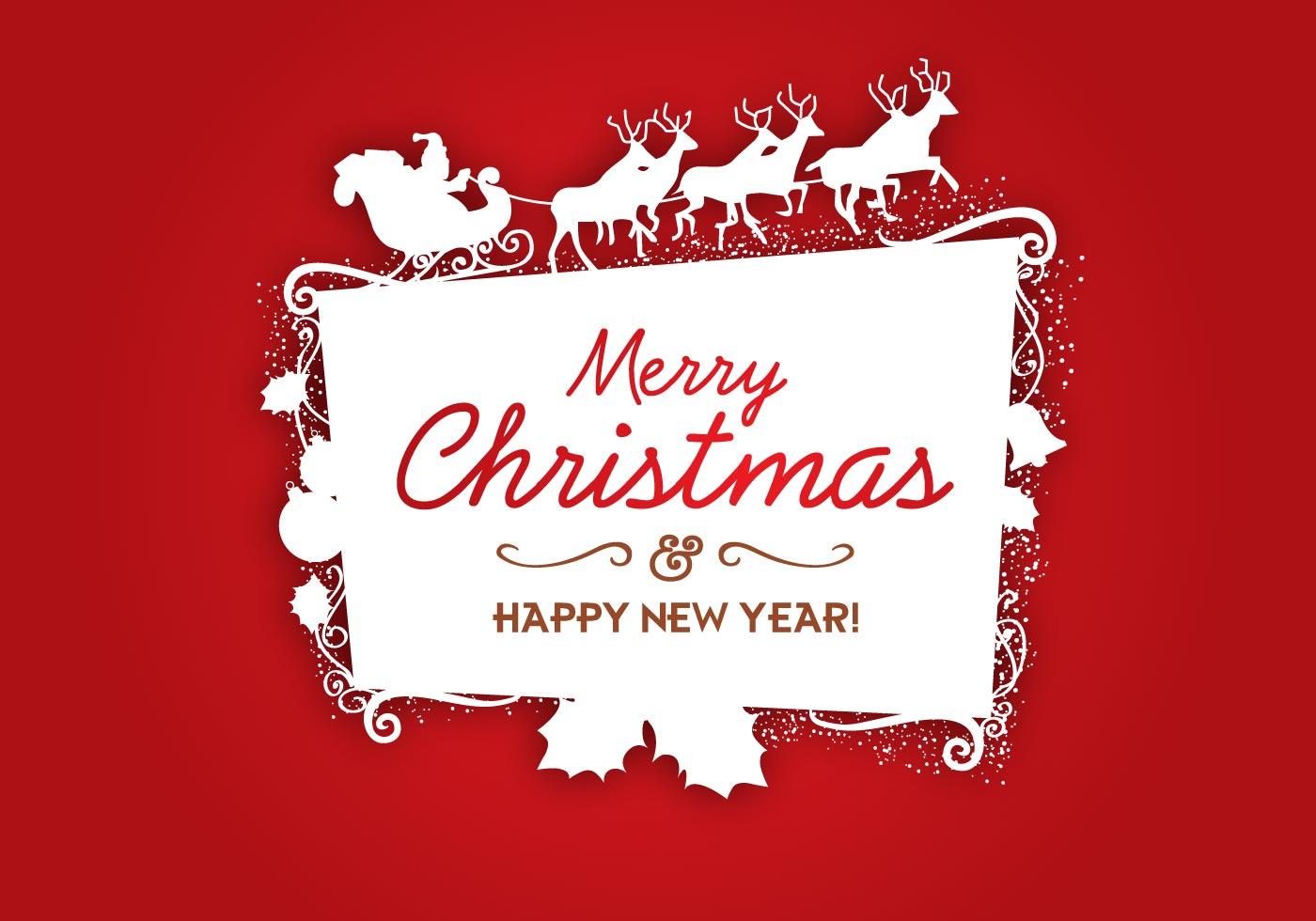 christmas logo vector frame