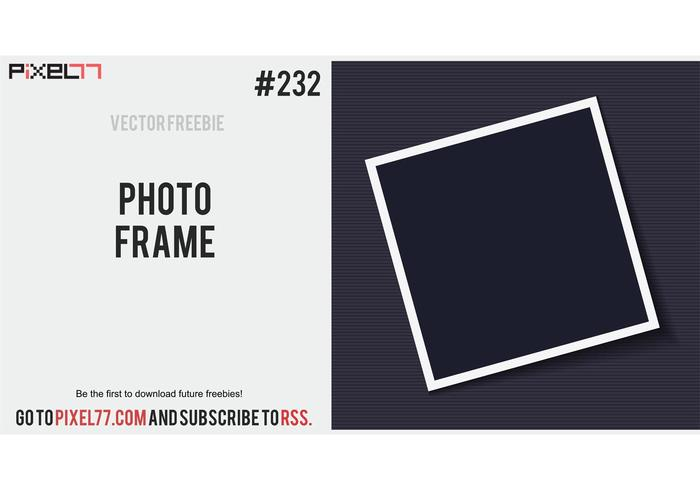 Photo Frame Vector - Free Vector of the Day #232