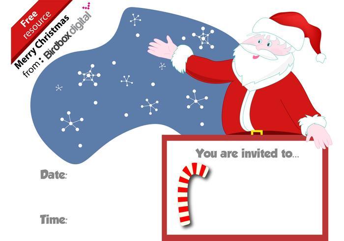 Santa Christmas Invite Vector
