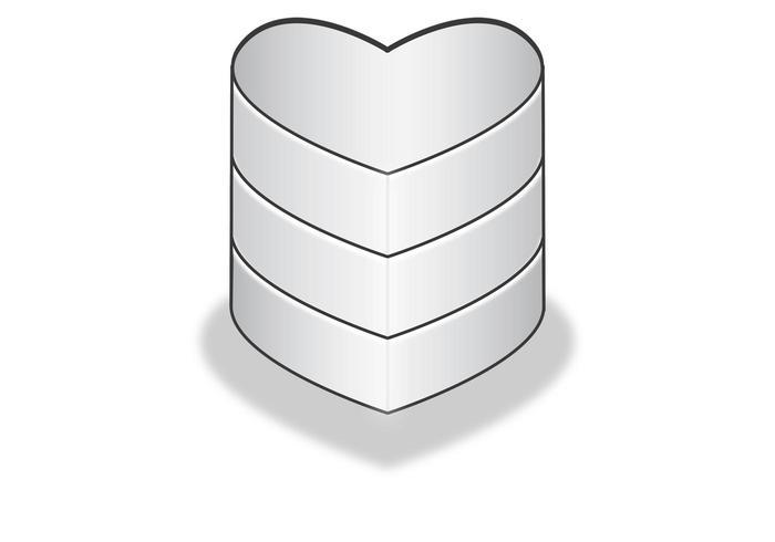 Ícone de banco de dados em forma de coração