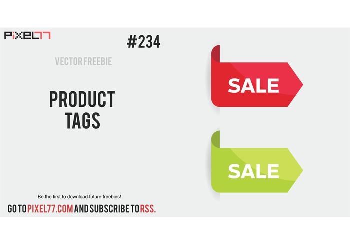 Free Vector of the Day #234: Product Tags