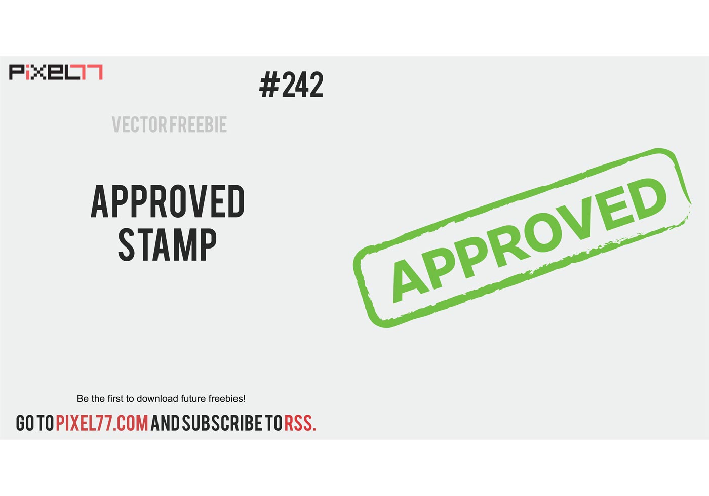 free vector of the day  242  approved stamp