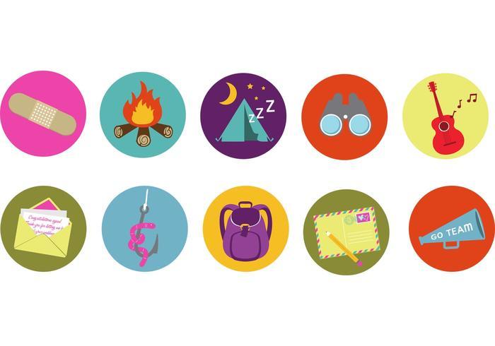 Marca campamento vectores de la insignia 2013