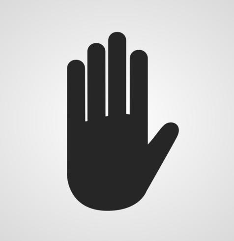 Svart Hand Vector - Gratis Vector of the Day # 251