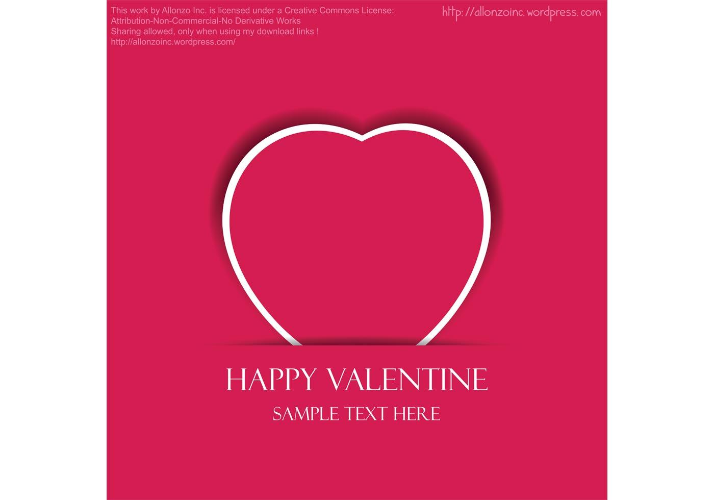 Valentine Heart Vector Card | Free Vector Art at Vecteezy!