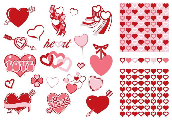 Valentine's Day Vector and Pattern Pack