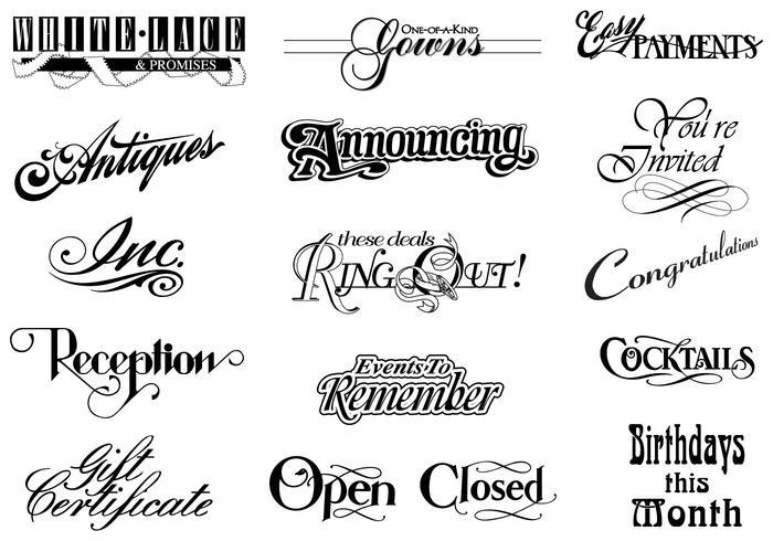 Vintage Typographic Vector Elements Pack