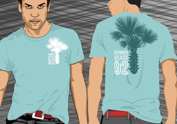 Palmeira Palm Tree Tshirt Vector