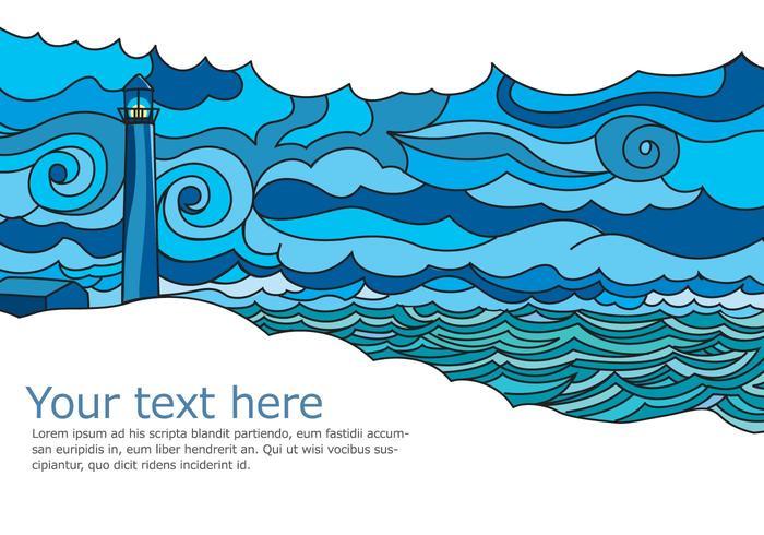 Seascape Vector Postcard