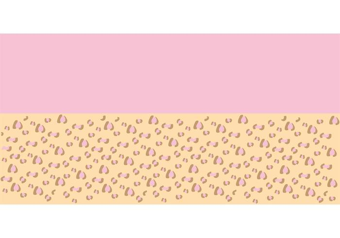 Pink Leopard Vector Background