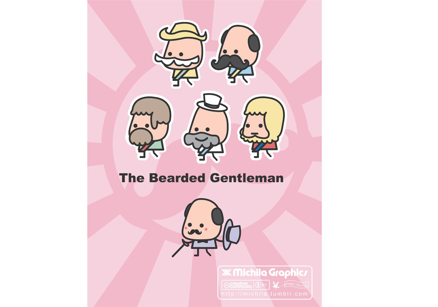 The Bearded Gentleman Vectors | Free Vector Art at Vecteezy!