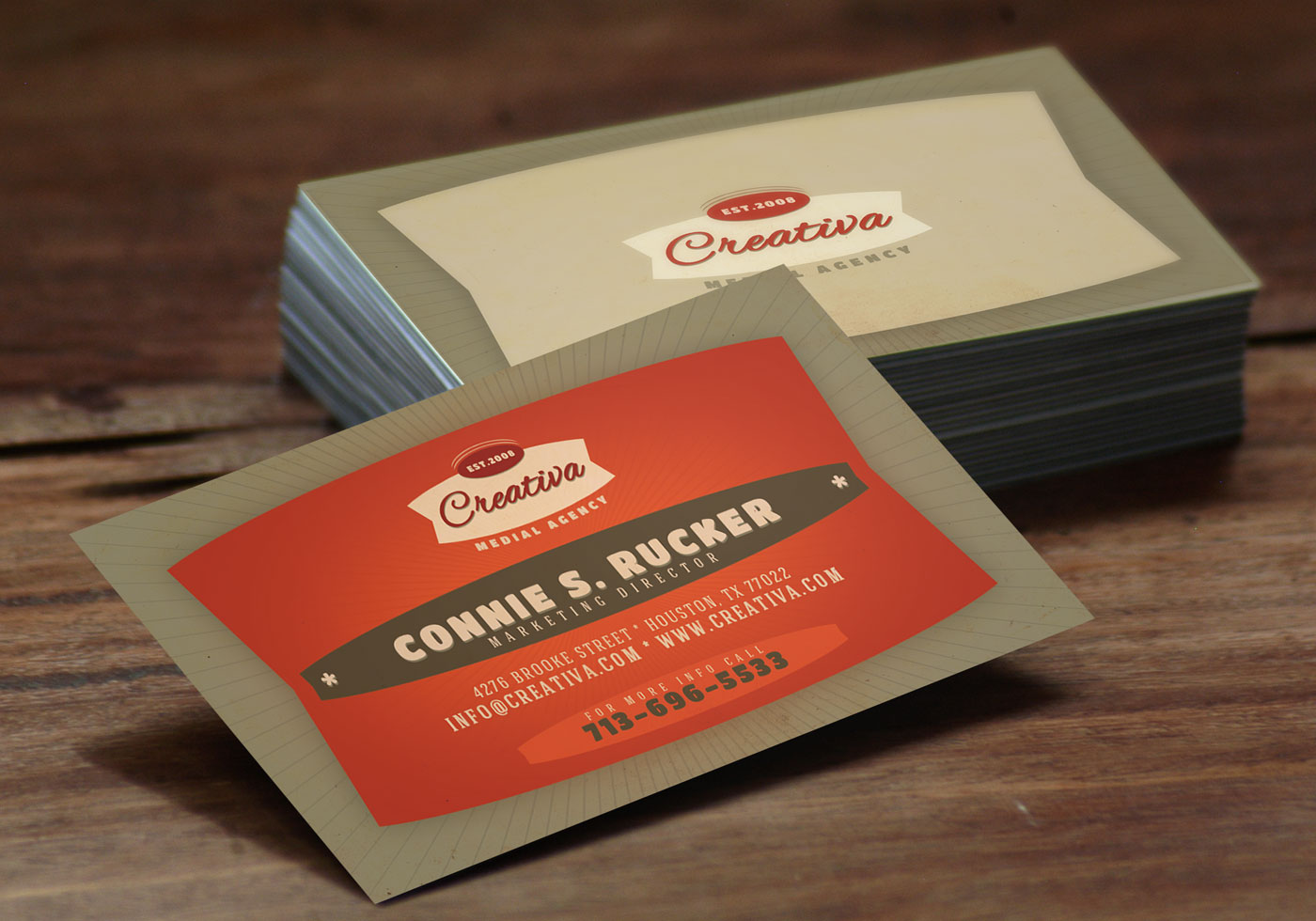 Bold Red Business Card Template Vector Pack - Download Free Vector ...