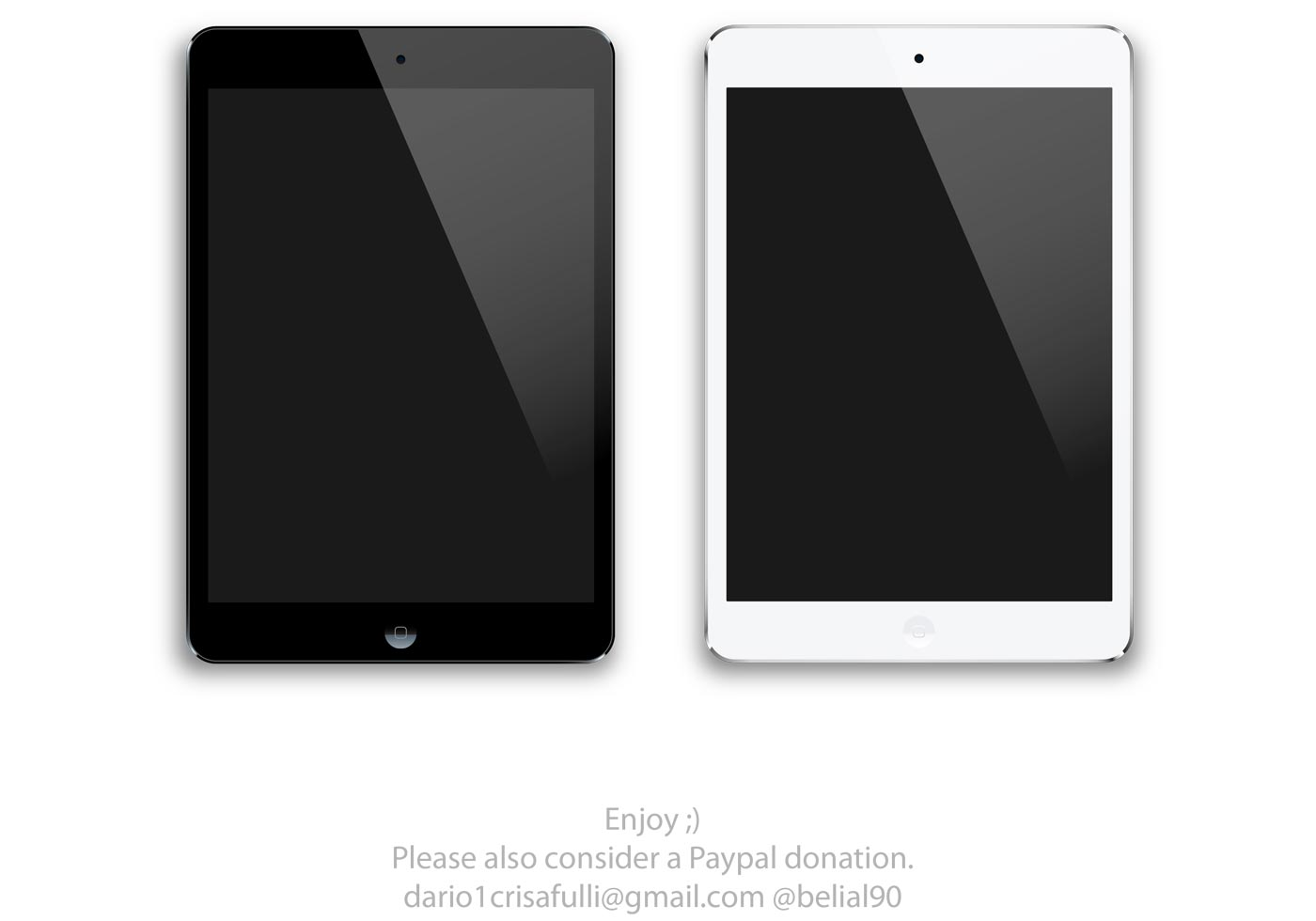 Black and White iPad Mini Vector | Free Vector Art at ...