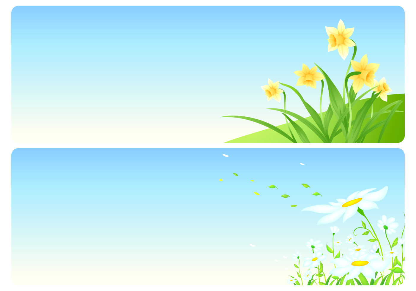 Floral Spring Vector Wallpaper Pack
