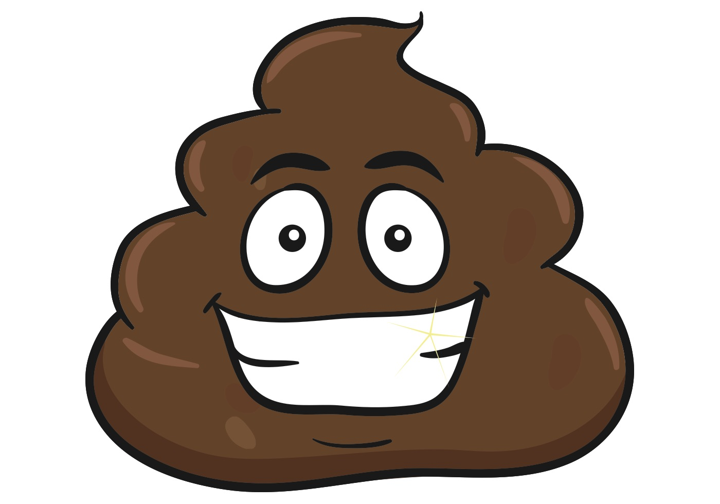 smiling pile of poo emoji download free vector art