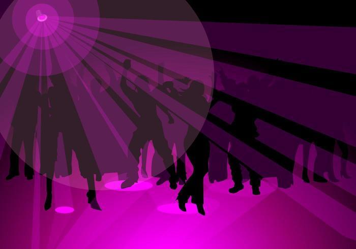 Purple Party Vector Wallpaper