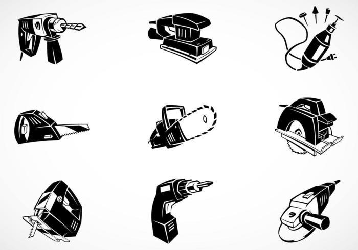 Paquete de vectores de herramientas eléctricas