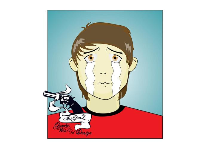 Sad Character Vector