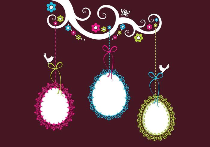 Pacote de vetores de ovo de Páscoa ornamentado