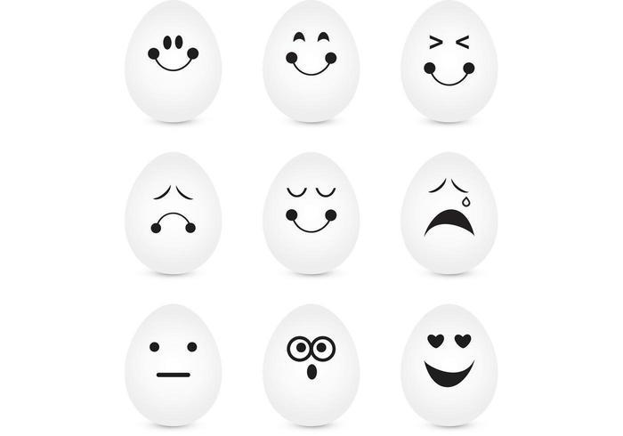 Expresivo, huevo, vector, paquete