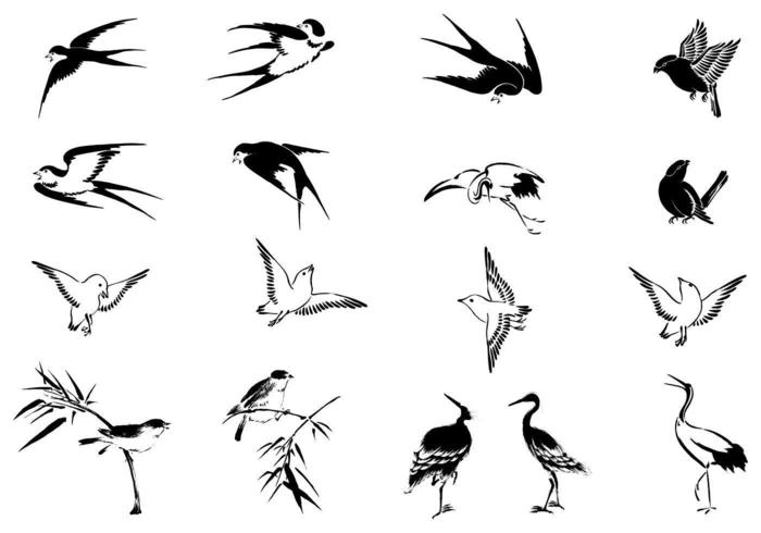 Flying Bird Vector Pack