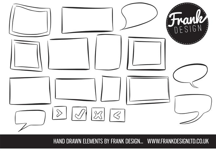 Hand Drawn Frame Vectors and Speech Bubble Vectors