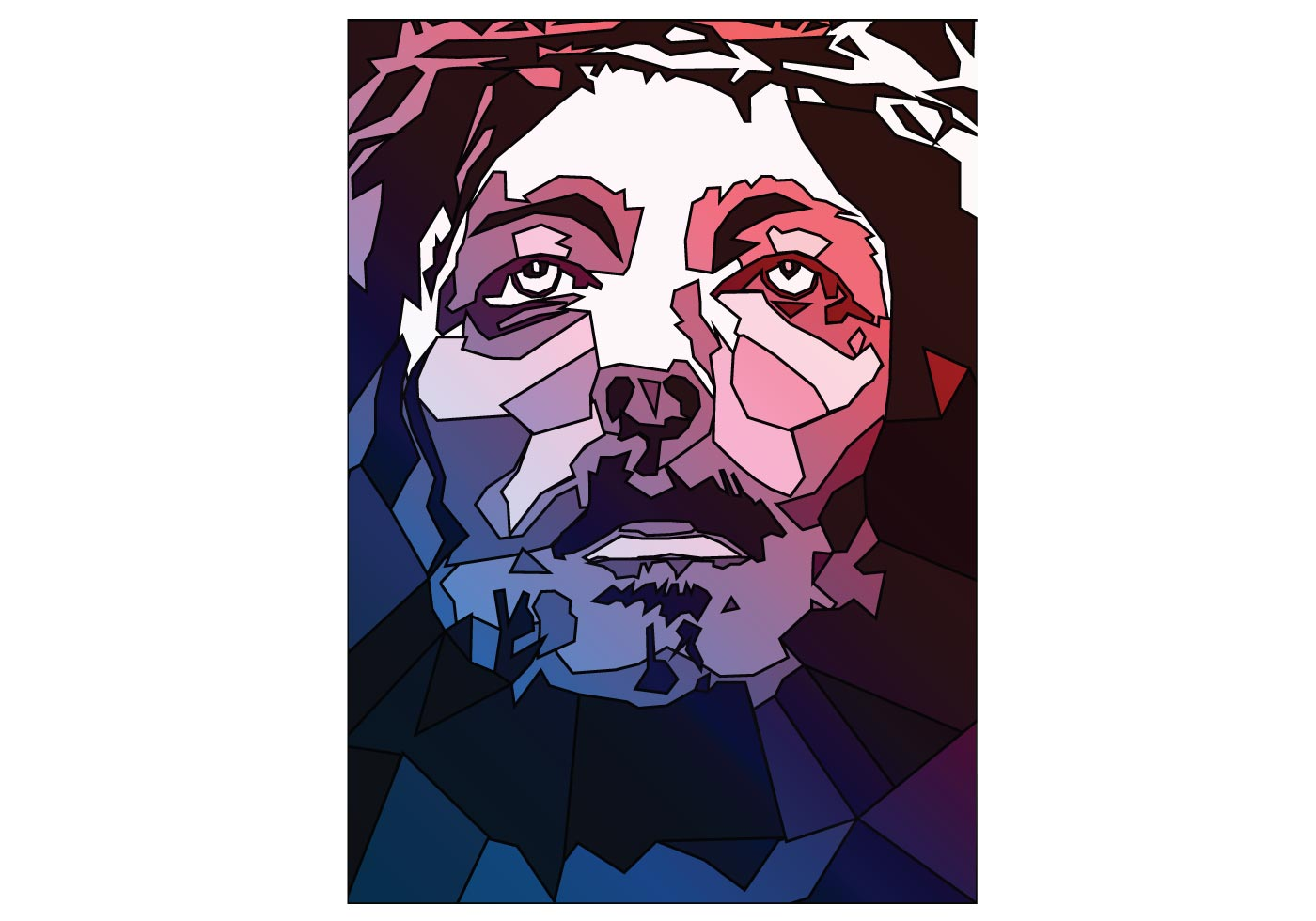 Jesus Stained Glass Vector
