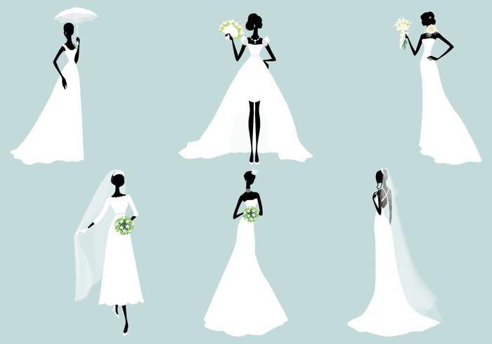 Bride Vector Silhouette Pack