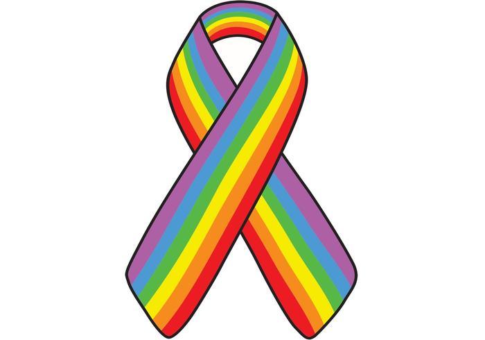 Rainbow Ribbon Vector