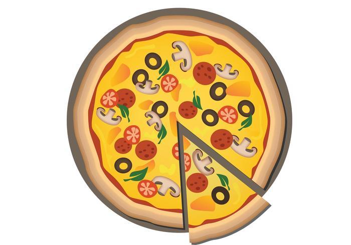 Pizza-Vektor