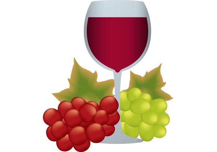 Goblet and Grapes Vector