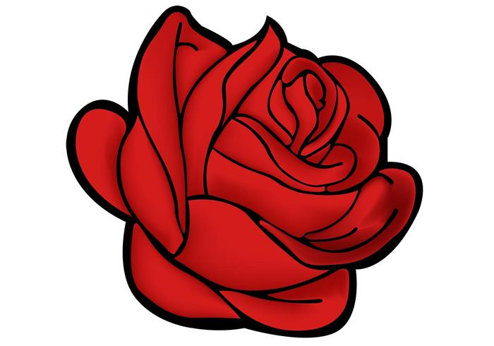 red rose vector free vector art at vecteezy rh vecteezy com rose vector pattern rose vector art