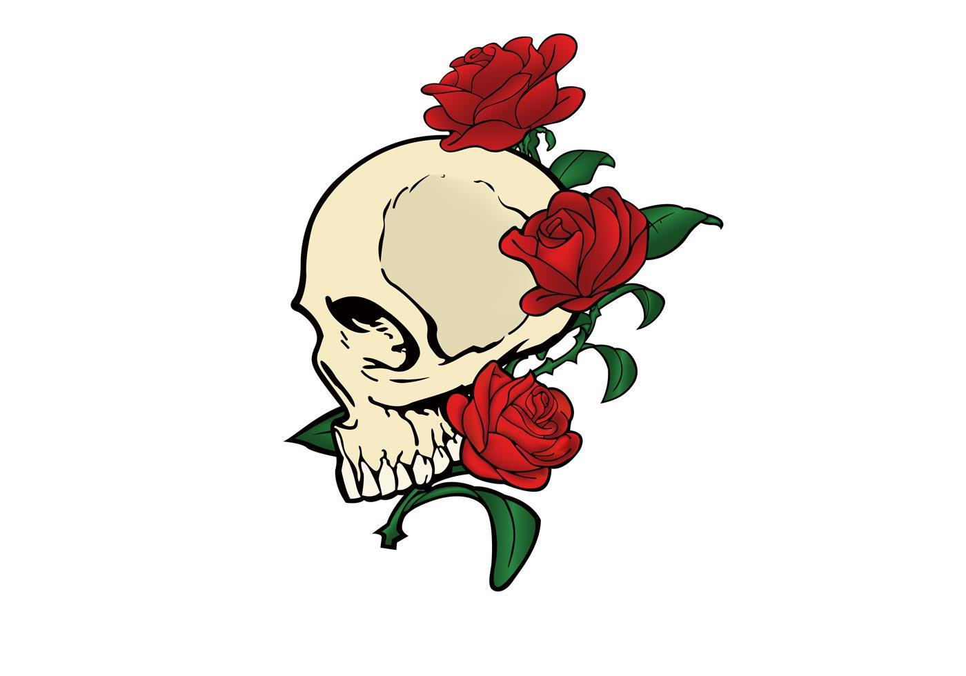 Skull & Roses Vector  Skull & Roses V...