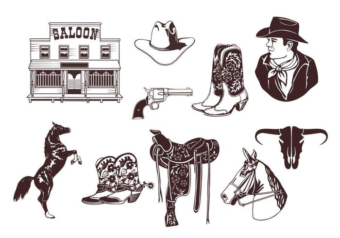 Cowboy Vector Pack