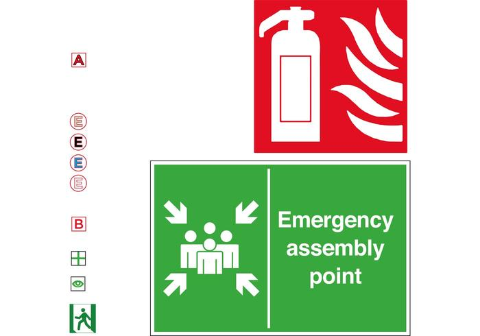 Emergency Fire Escape Symbol Vectors Free Vector Art At Vecteezy