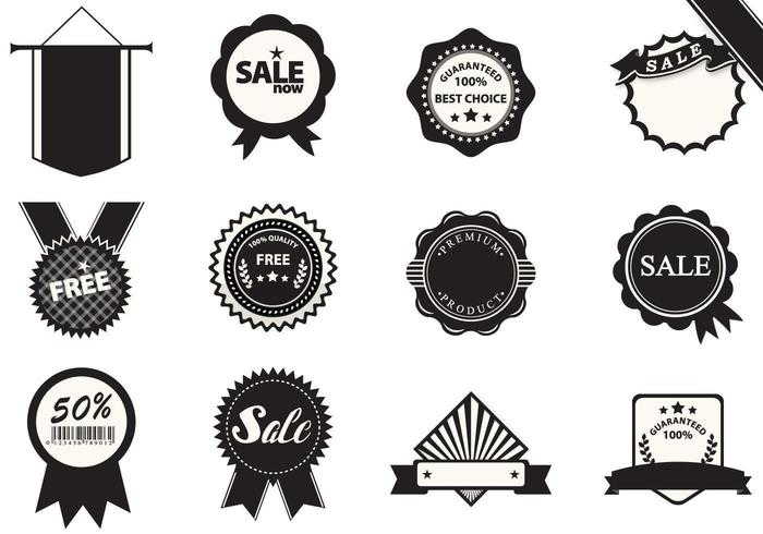 Business badge vector pack
