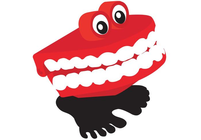 Chattering Teeth Vector