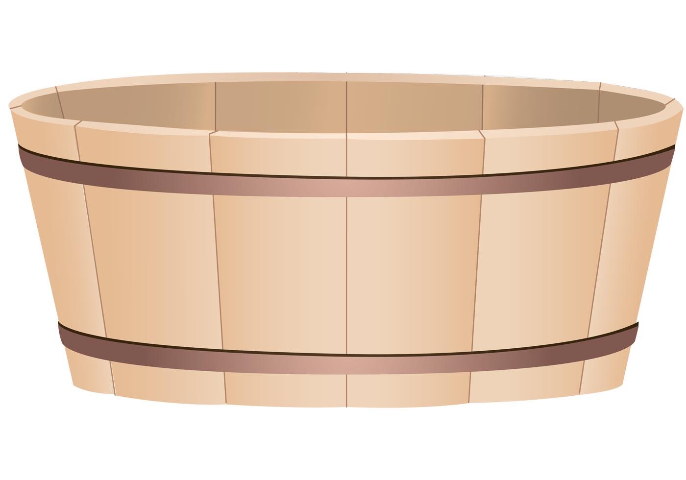 Wooden Bucket Vector Free Vector Art At Vecteezy