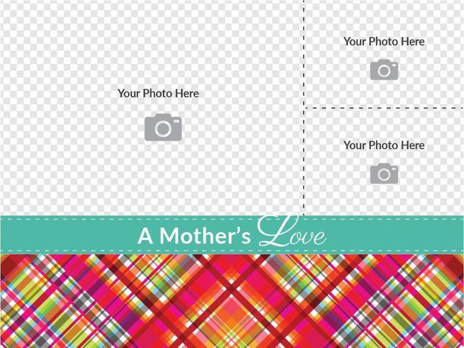 Plaid Mother's Day Card Vector Template