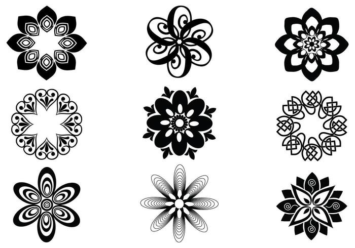 Abstract Floral Vector Elements Pack