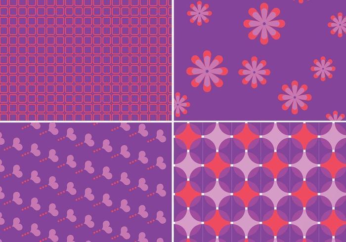 Motif Funky violet et vecteurs de fond vecteur